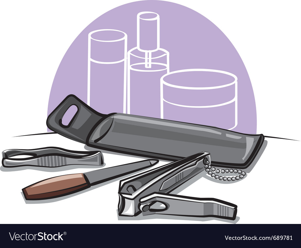 Manicure tools vector | Price: 3 Credit (USD $3)