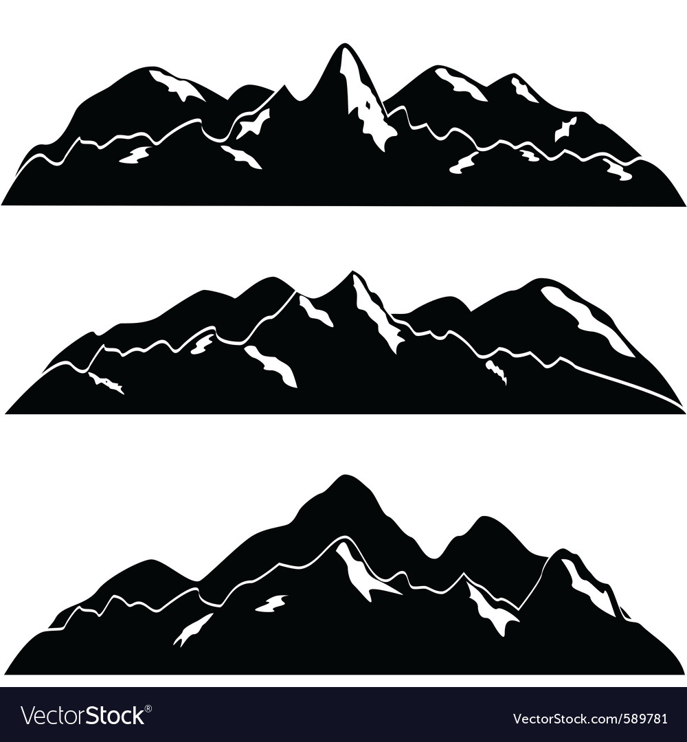 Mountainscape vector | Price: 1 Credit (USD $1)