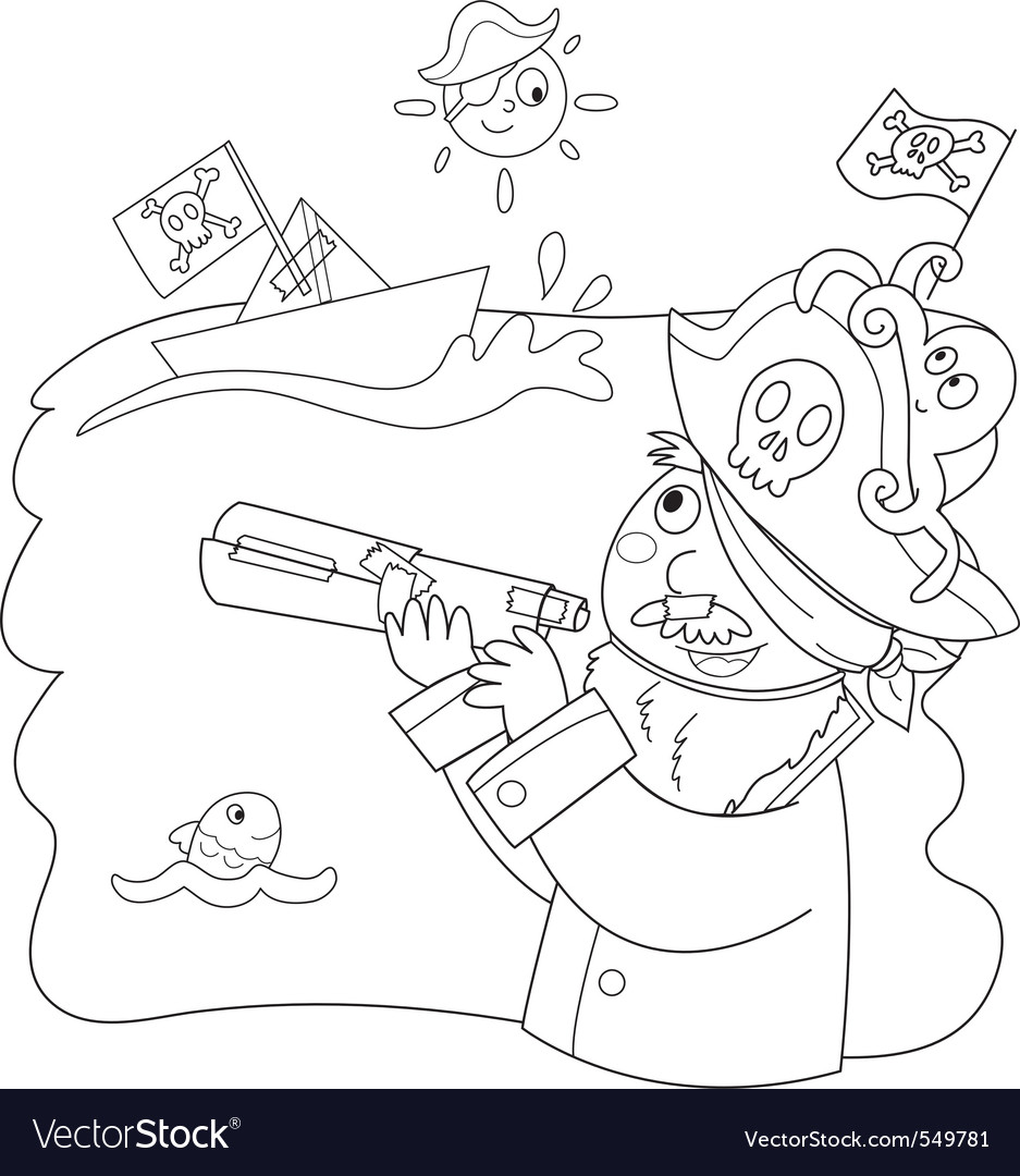 Pirate child vector | Price: 1 Credit (USD $1)