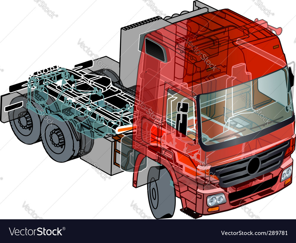 Semi truck info graphics vector | Price: 3 Credit (USD $3)