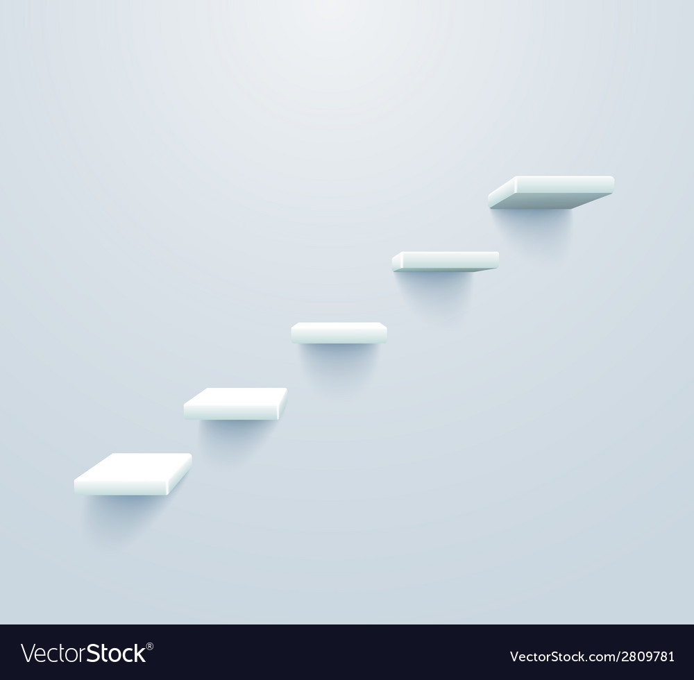 Stairs up vector | Price: 1 Credit (USD $1)