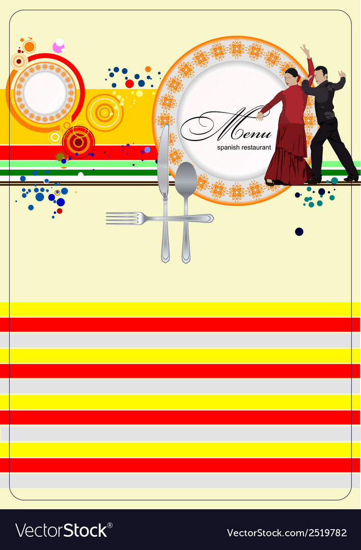 Al 0329 spanish restaurant menu vector | Price: 1 Credit (USD $1)