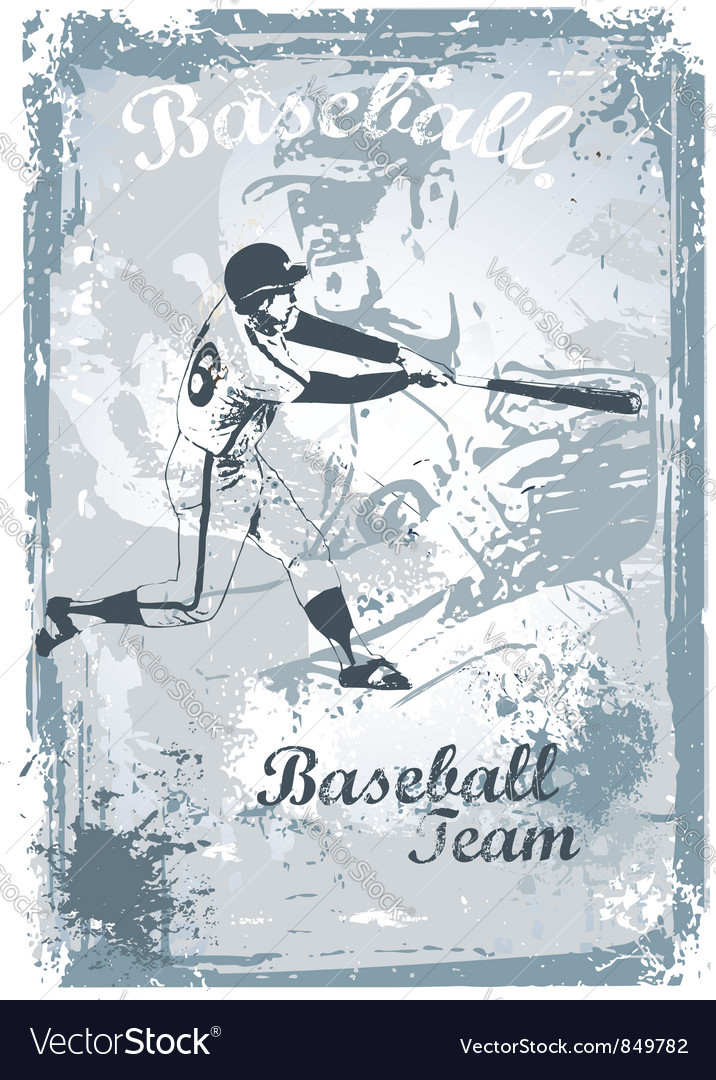 Base ball grunge vector | Price: 1 Credit (USD $1)