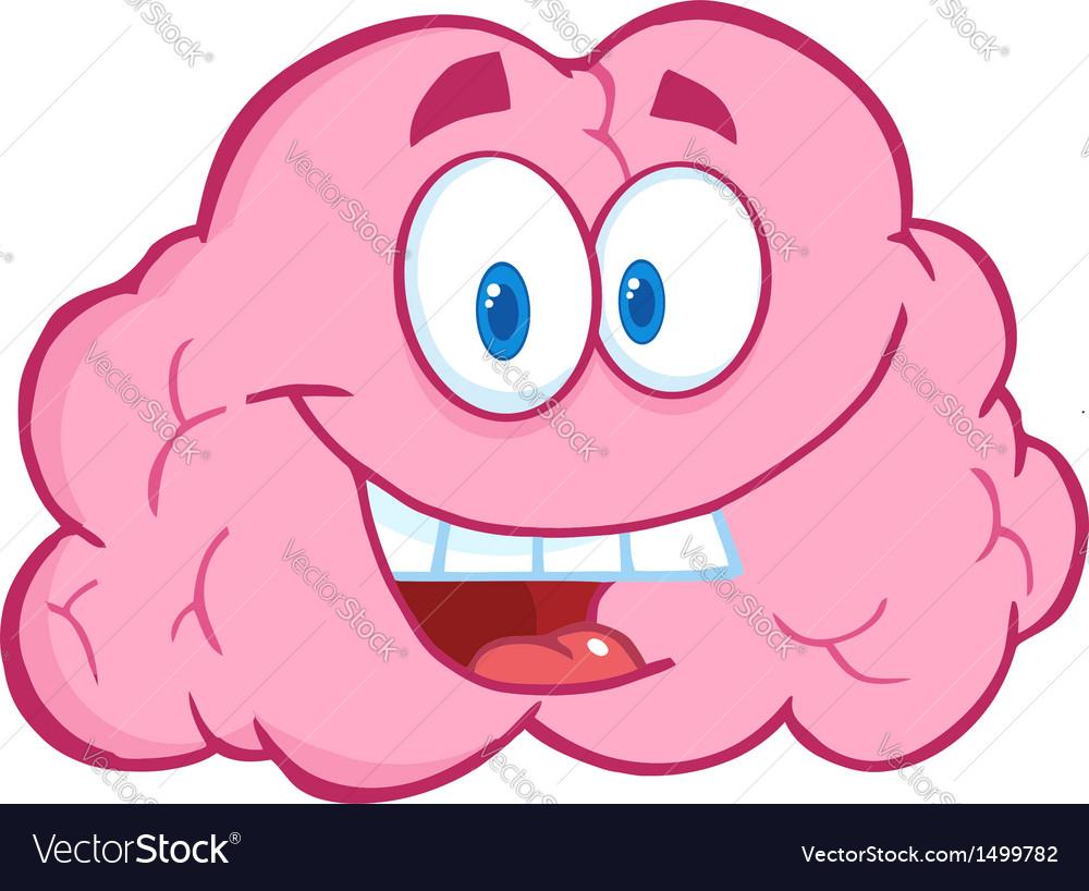 Brain cartoon character vector | Price: 1 Credit (USD $1)