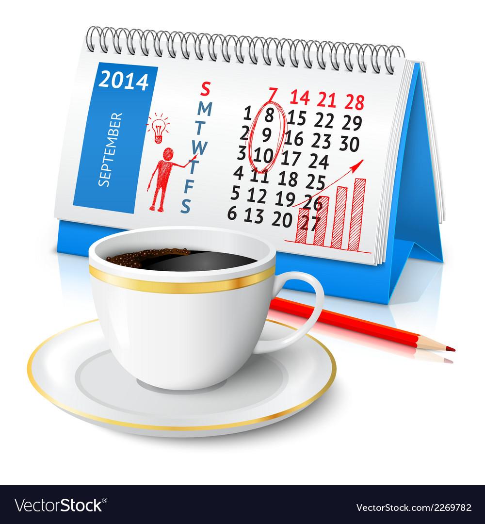 Business sketch on calendar vector | Price: 1 Credit (USD $1)