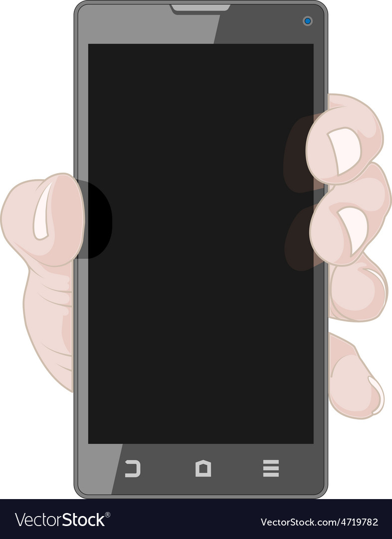 Hand with smart phone vector | Price: 1 Credit (USD $1)