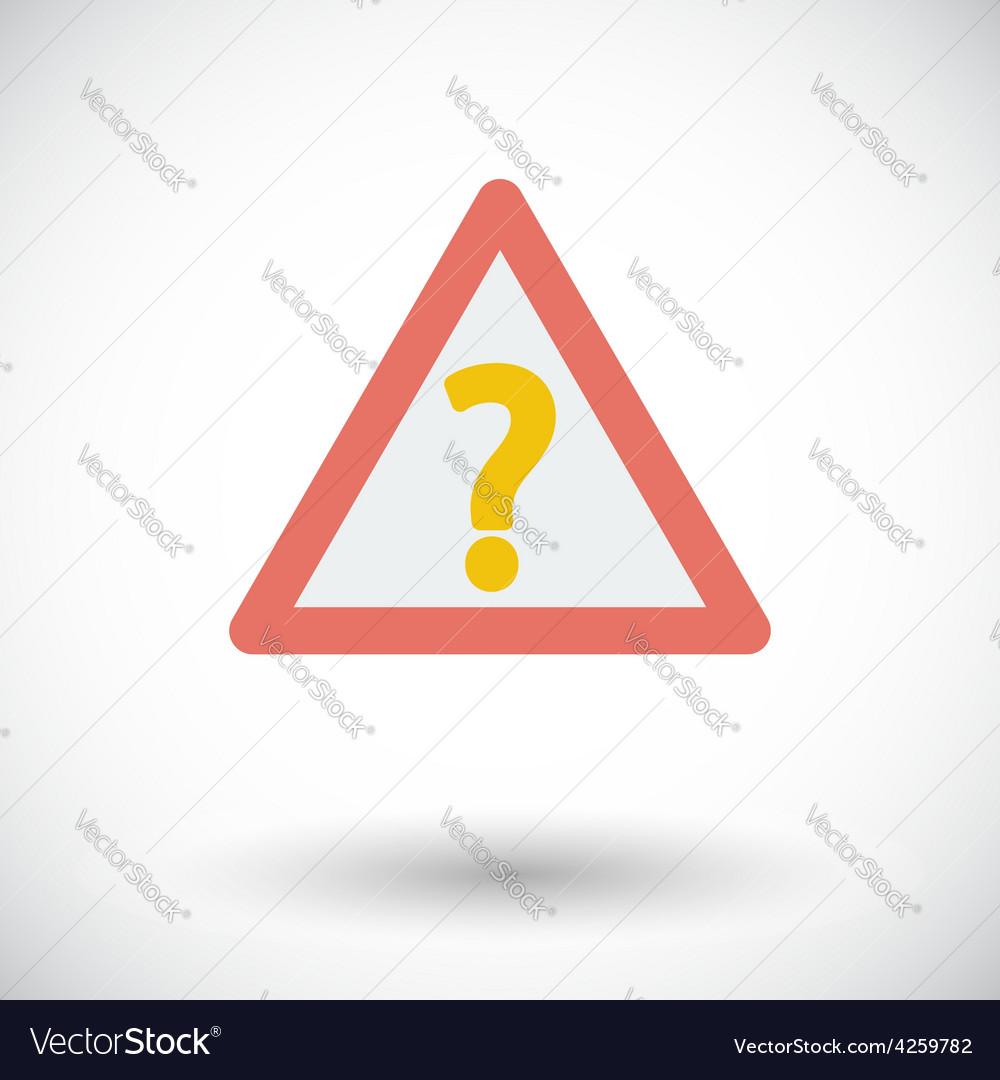 Question single icon vector | Price: 1 Credit (USD $1)