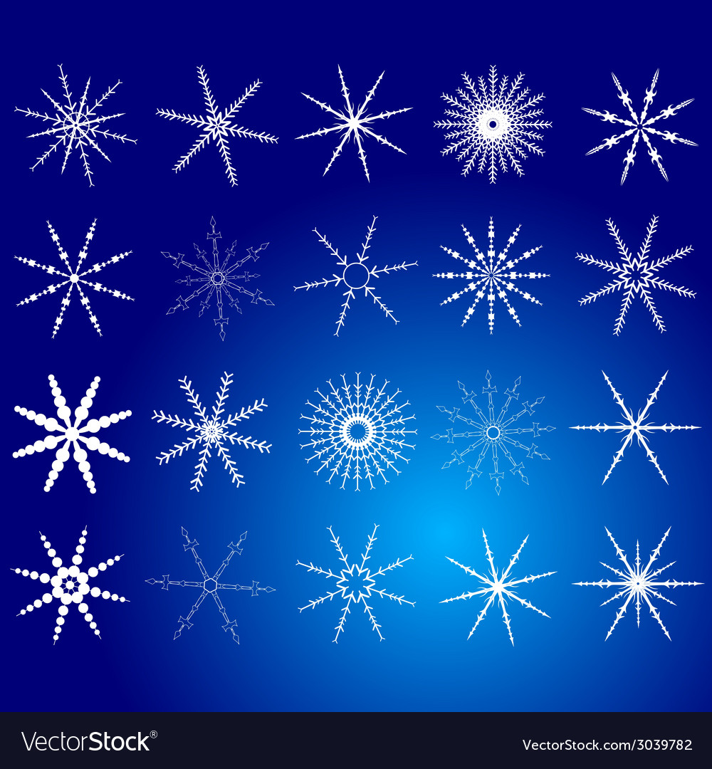 Snowflake white art vector | Price: 1 Credit (USD $1)