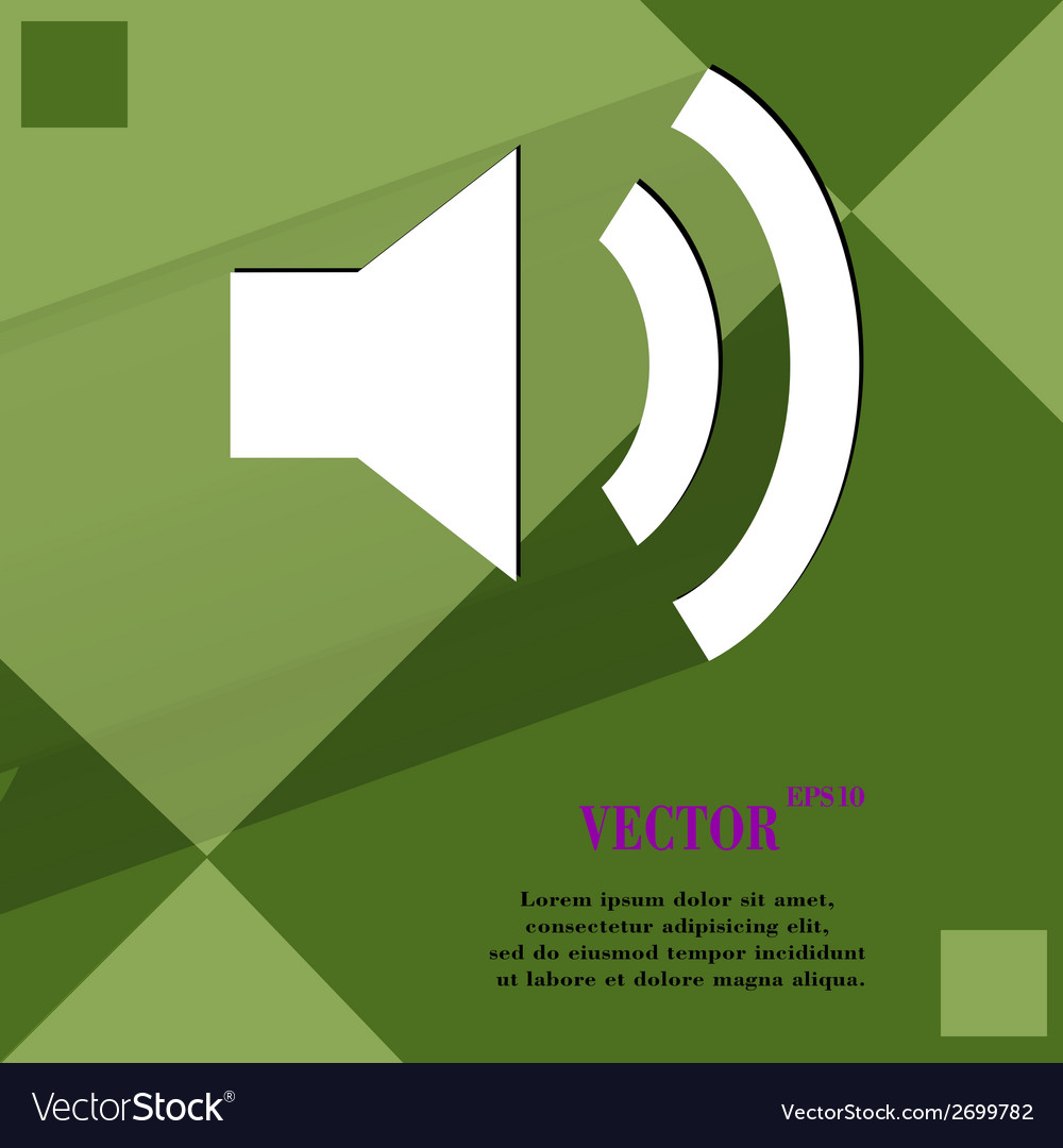Speaker flat modern web design on a flat geometric vector | Price: 1 Credit (USD $1)