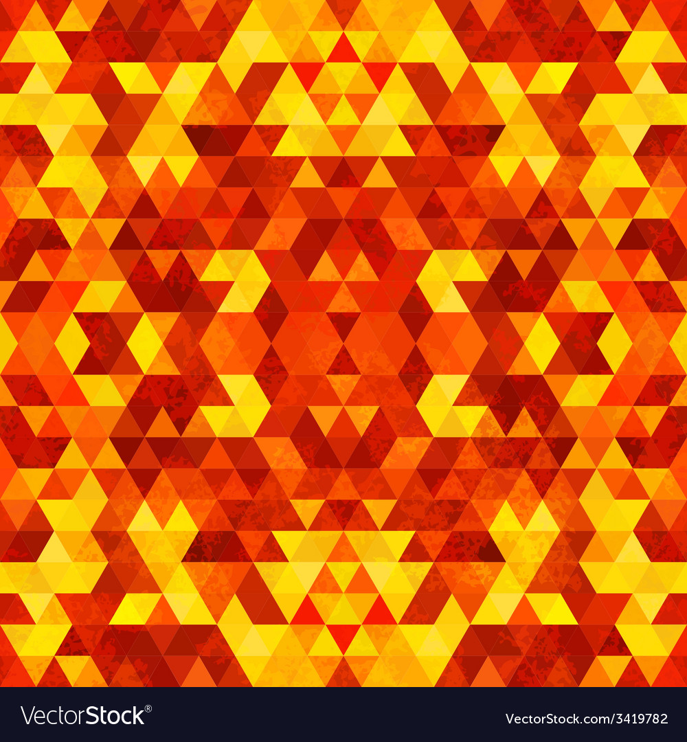 Triangular mosaic orange background vector | Price: 1 Credit (USD $1)
