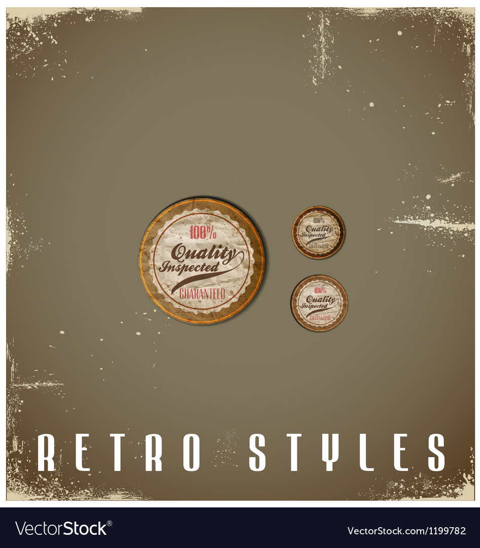 Vintage labels template set retro logo design vector | Price: 1 Credit (USD $1)