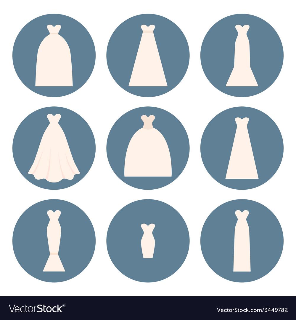Wedding dress style vector | Price: 1 Credit (USD $1)