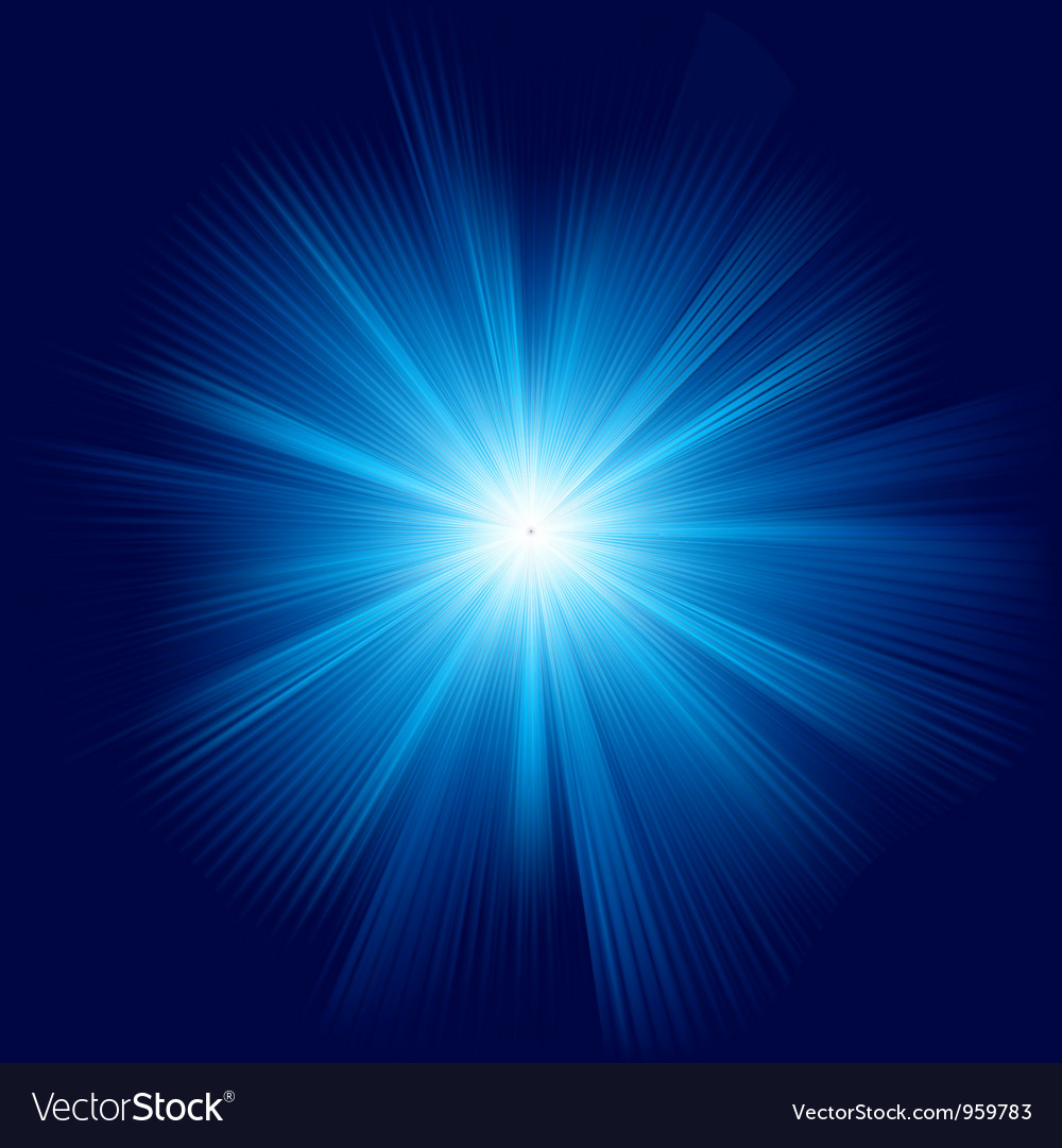 A blue color design with a burst eps 8 vector | Price: 1 Credit (USD $1)