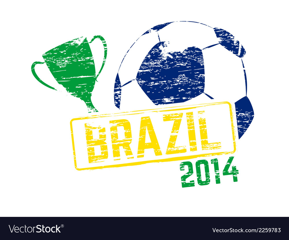 Brazil 2014 stamp vector | Price: 1 Credit (USD $1)