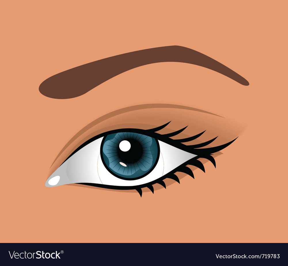 Close up eye isolated - vector | Price: 1 Credit (USD $1)