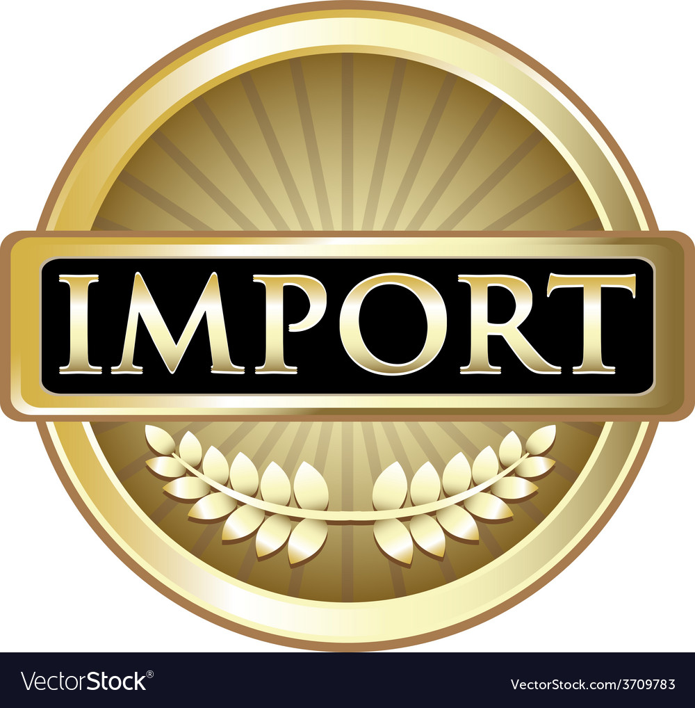 Import gold label vector | Price: 1 Credit (USD $1)