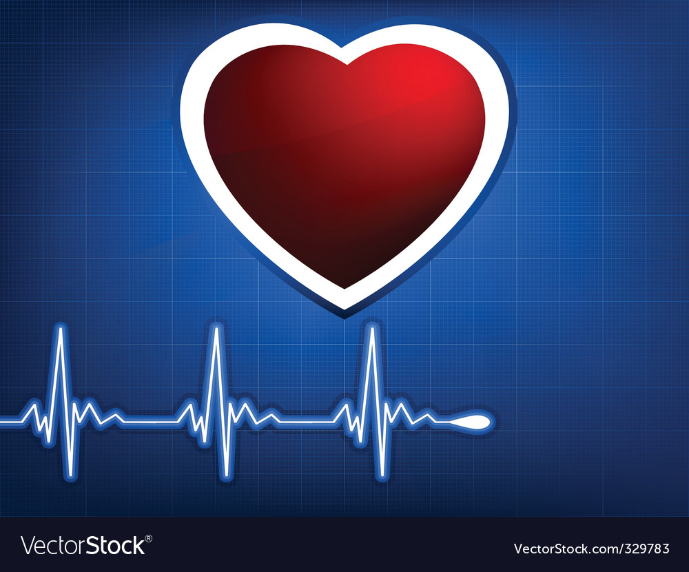 Normal ecg blue background vector | Price: 1 Credit (USD $1)