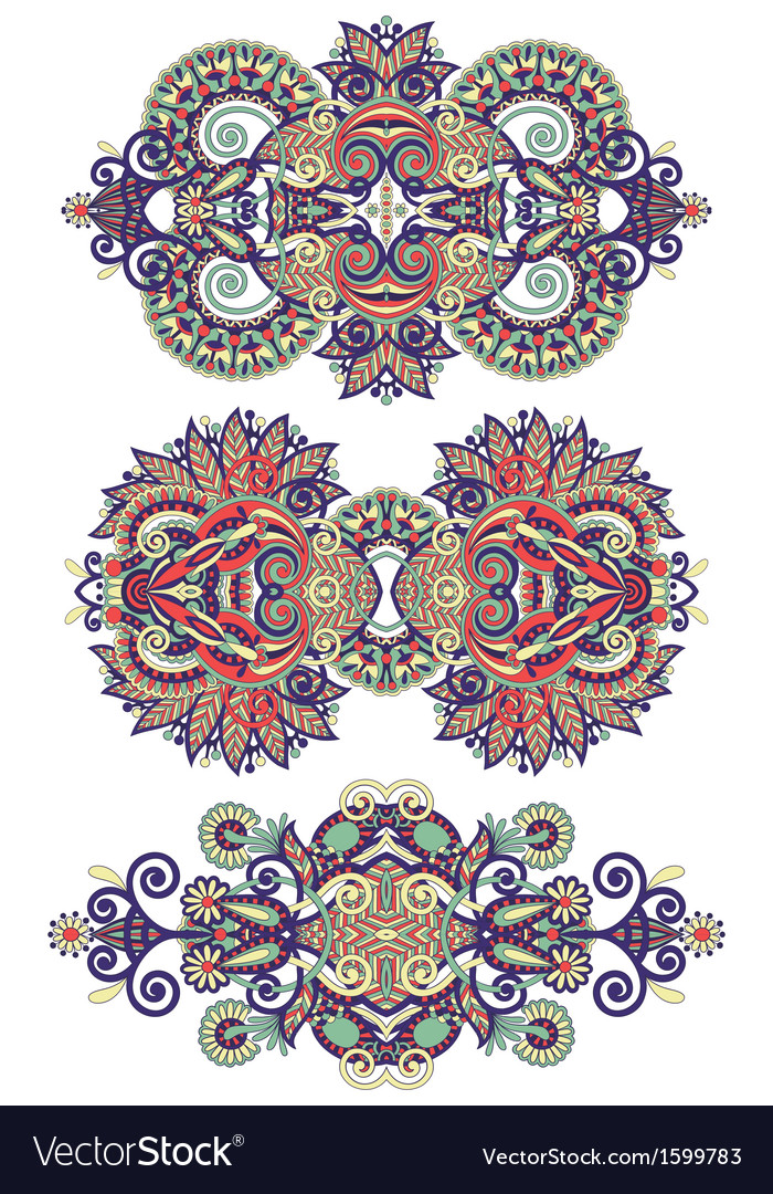 Ornamental floral adornment vector | Price: 1 Credit (USD $1)