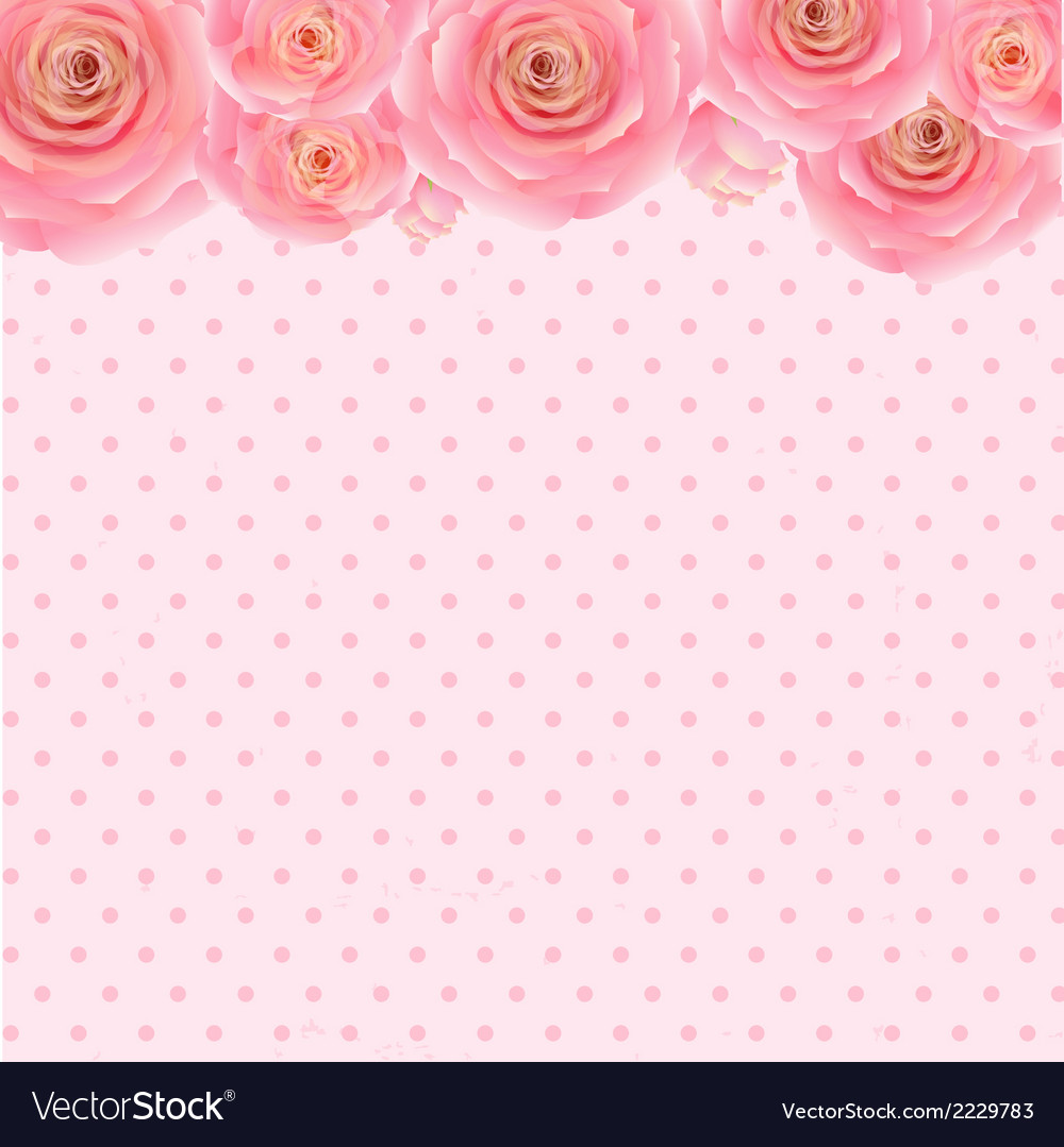 Pink rose background vector | Price: 1 Credit (USD $1)