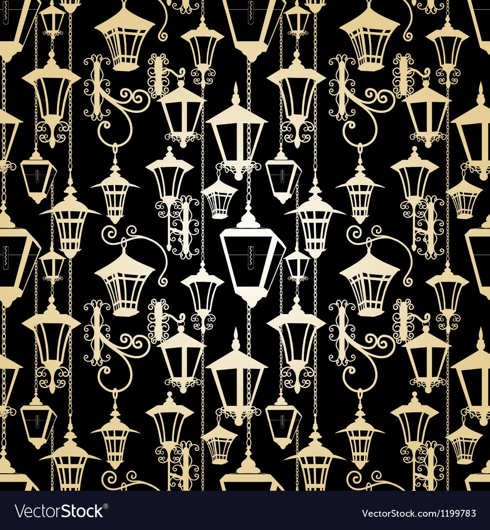 Seamless lantern pattern vector | Price: 1 Credit (USD $1)