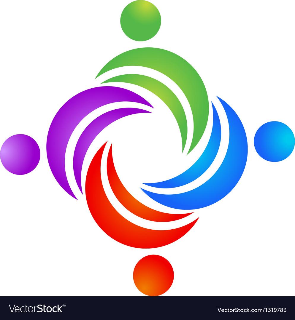 Teamwork leader logo vector | Price: 1 Credit (USD $1)
