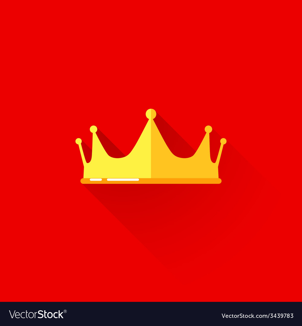 Vintage of a crown in flat style with long shadow vector | Price: 1 Credit (USD $1)