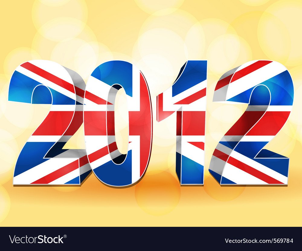 2012 union jack vector | Price: 1 Credit (USD $1)
