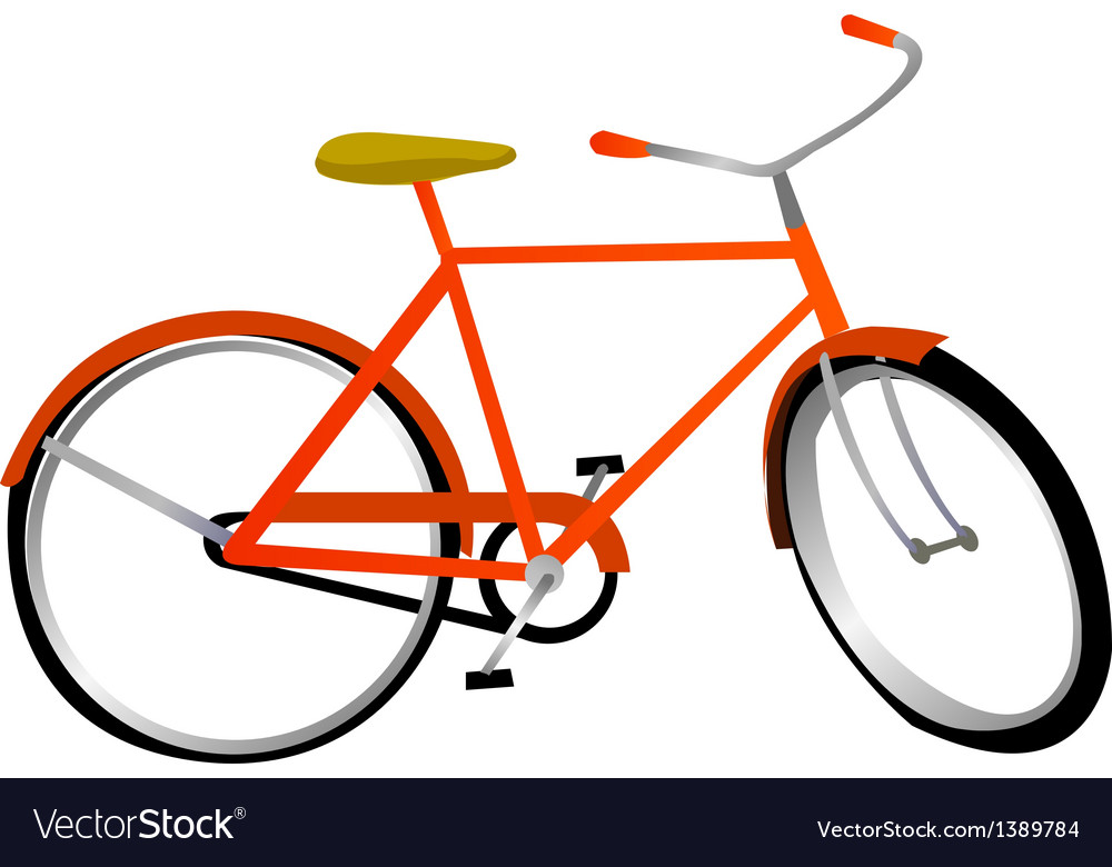 A view of a bicycle vector | Price: 1 Credit (USD $1)