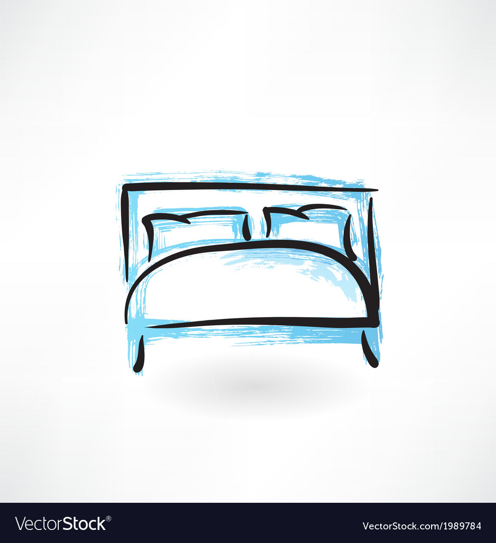 Bed grunge icon vector | Price: 1 Credit (USD $1)