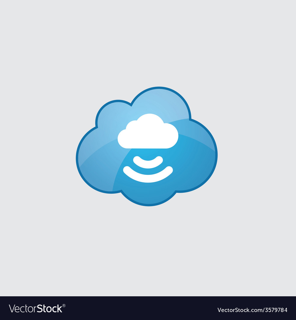 Blue cloud connect cloud icon vector | Price: 1 Credit (USD $1)