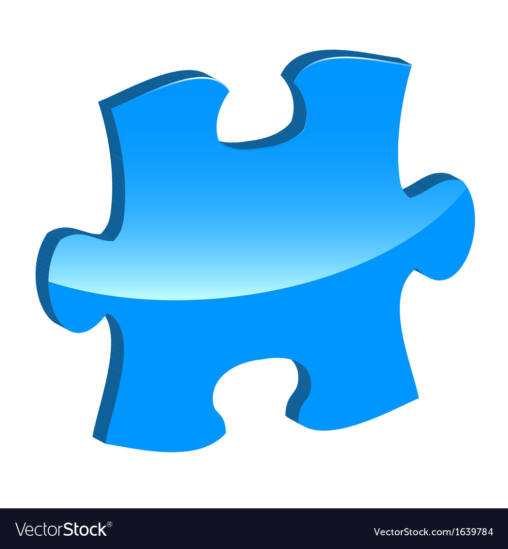 Blue puzzle 3d pie icon vector | Price: 1 Credit (USD $1)