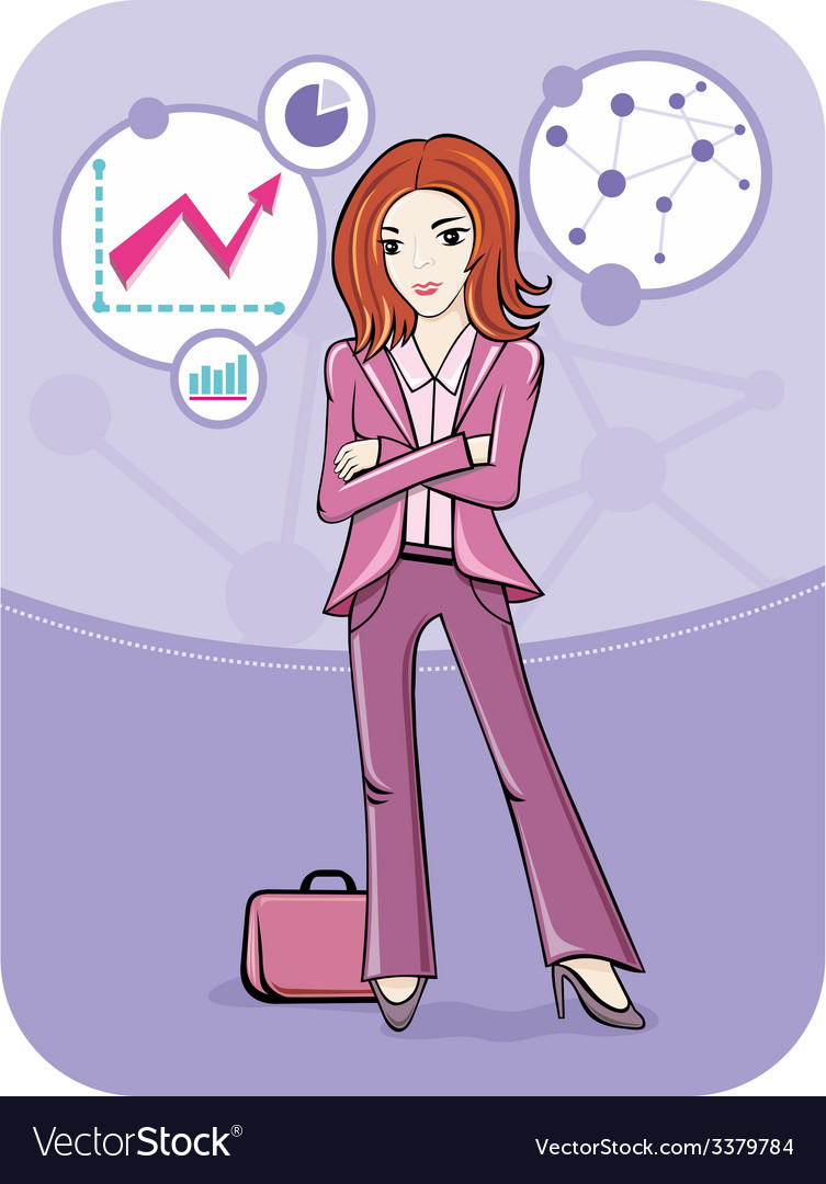 Businesswoman standing against graph dynamics vector | Price: 1 Credit (USD $1)