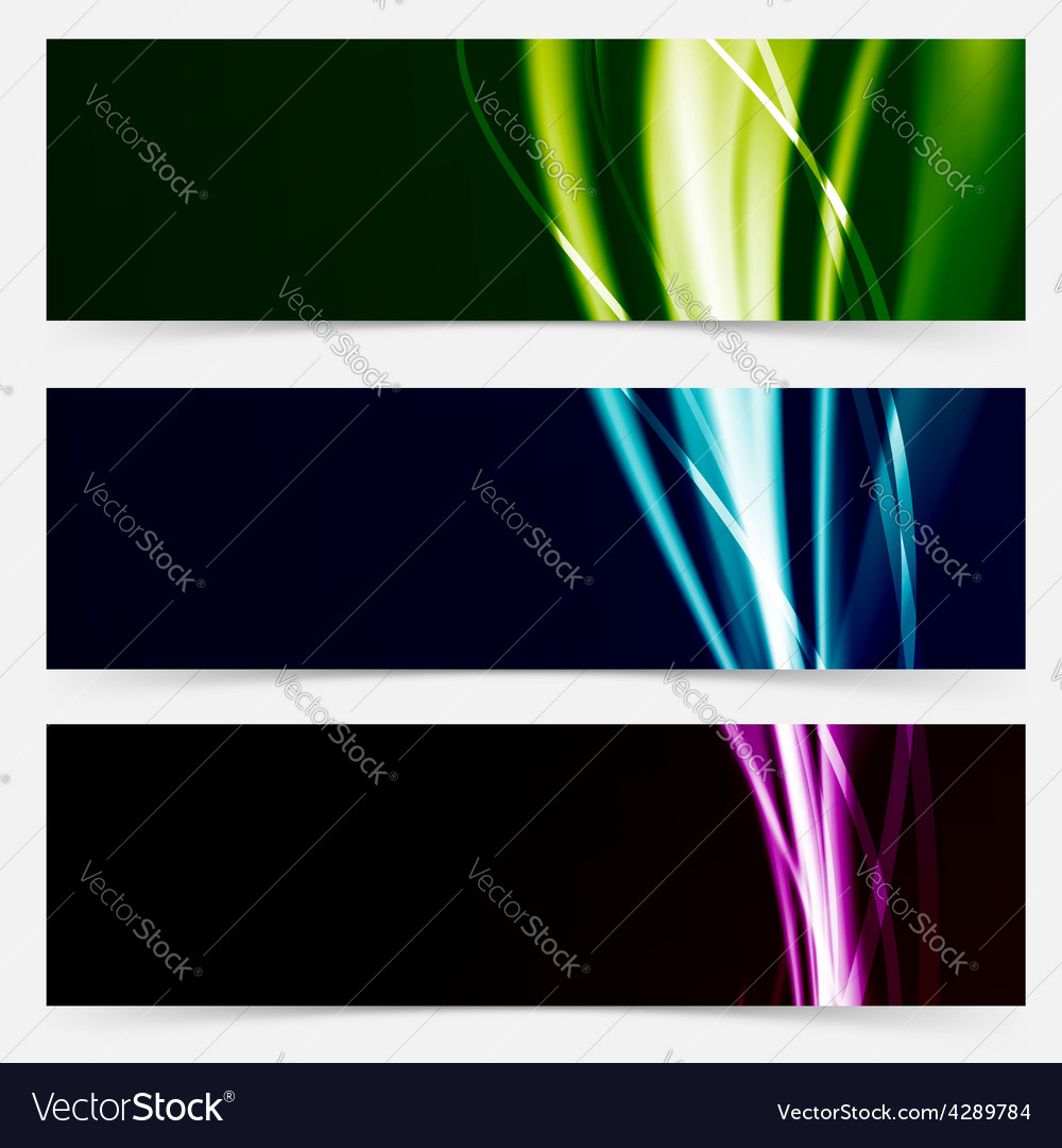Colorful header collection speed futuristic line vector | Price: 1 Credit (USD $1)