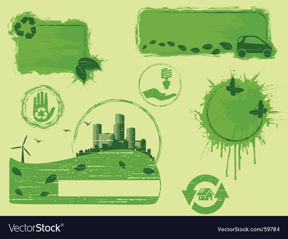 Eco design elements vector | Price: 1 Credit (USD $1)