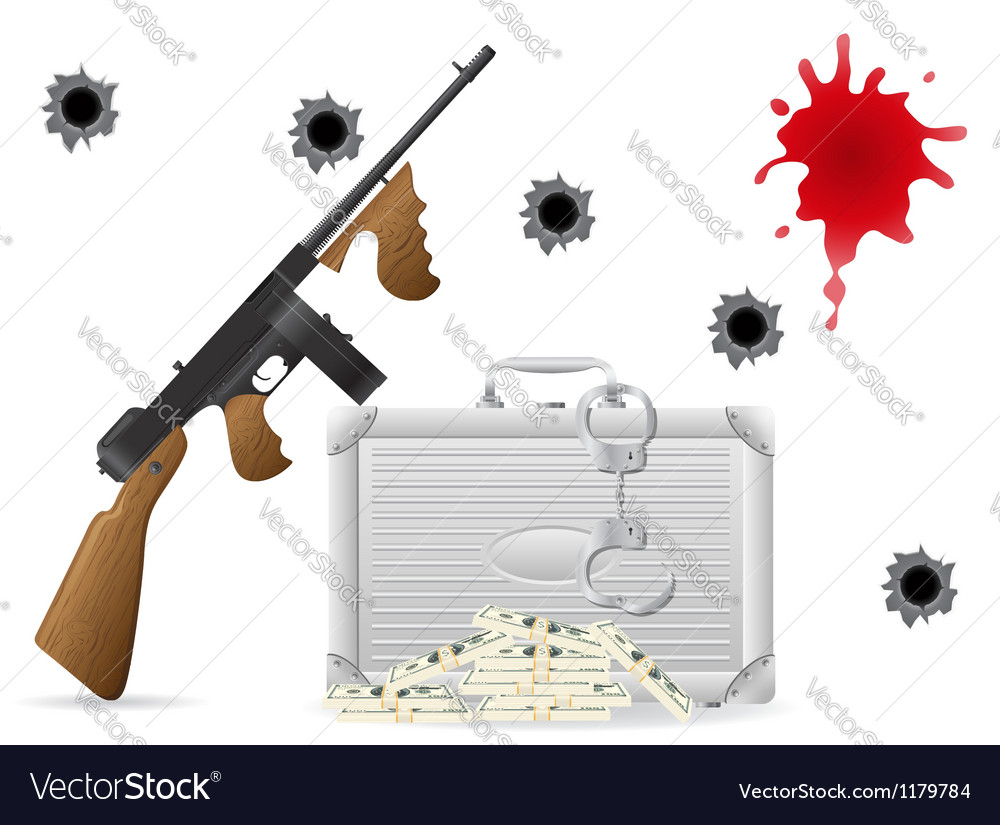 Gangster concept vector | Price: 1 Credit (USD $1)
