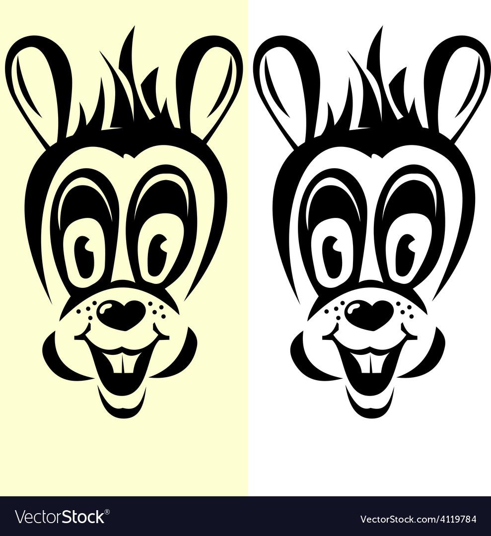 Half-transparent cartoon rabbit silhouette vector | Price: 1 Credit (USD $1)
