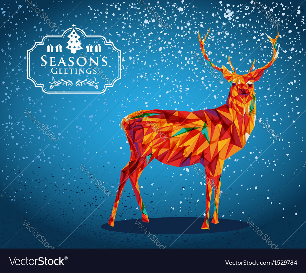 Merry christmas reindeer shape vector | Price: 1 Credit (USD $1)