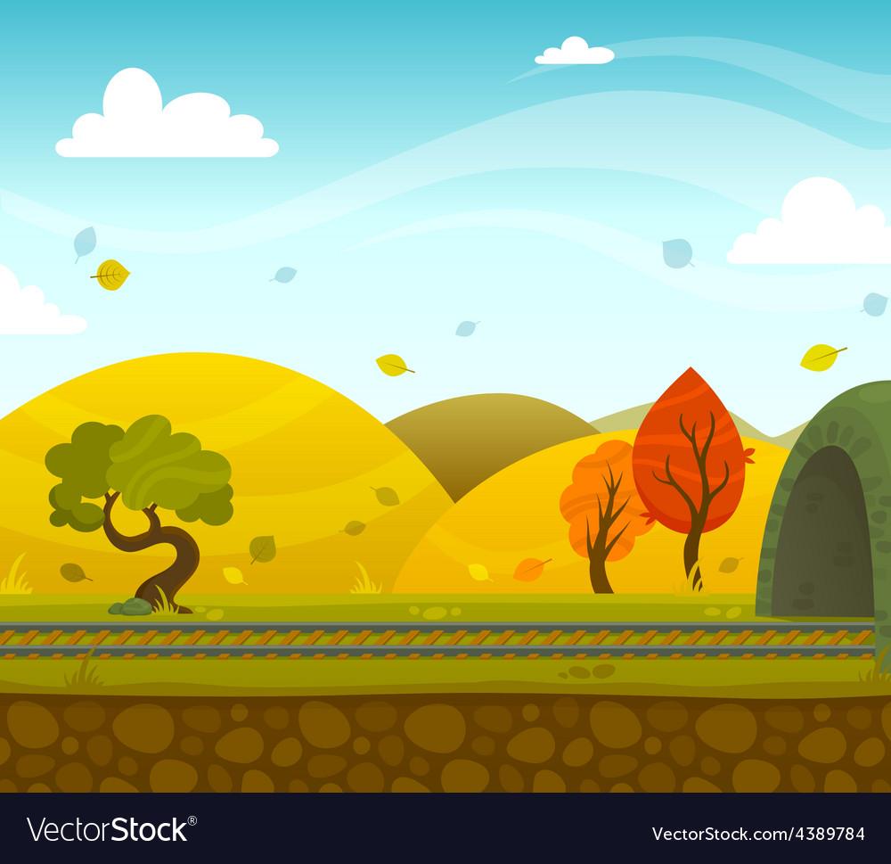 Railway landscape vector   Price: 1 Credit (USD $1)