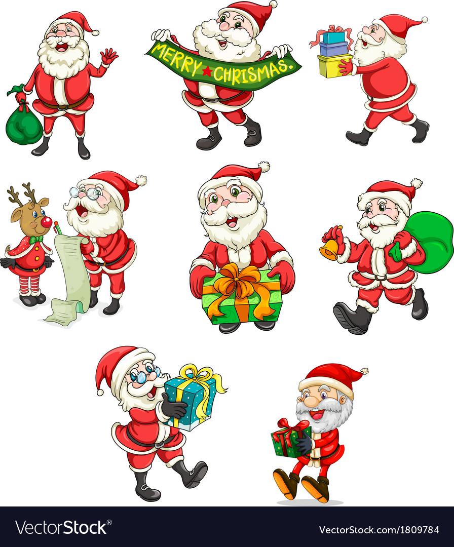 Santa claus and his reindeer vector   Price: 1 Credit (USD $1)