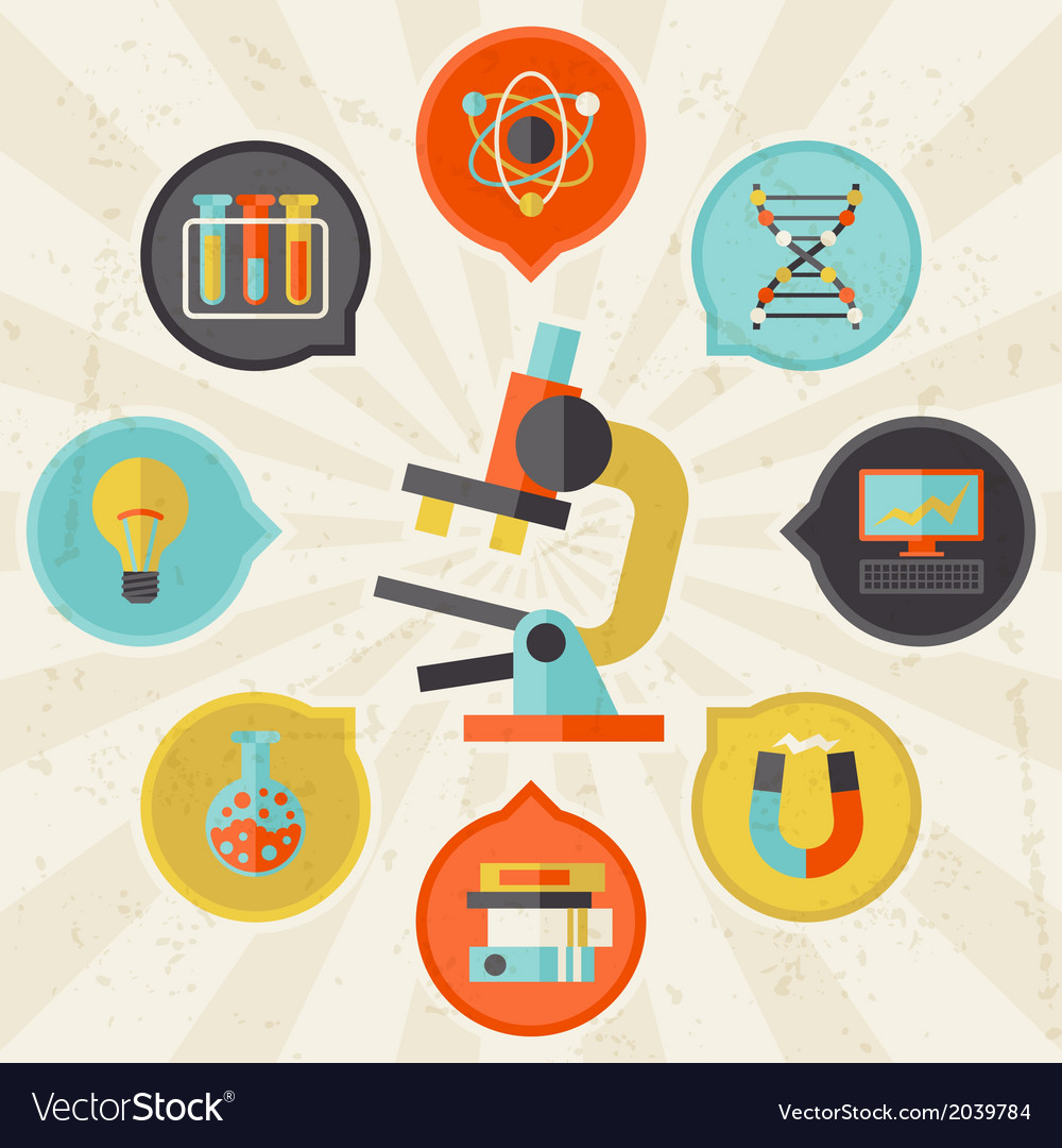 Science concept info graphic in flat design style vector | Price: 1 Credit (USD $1)