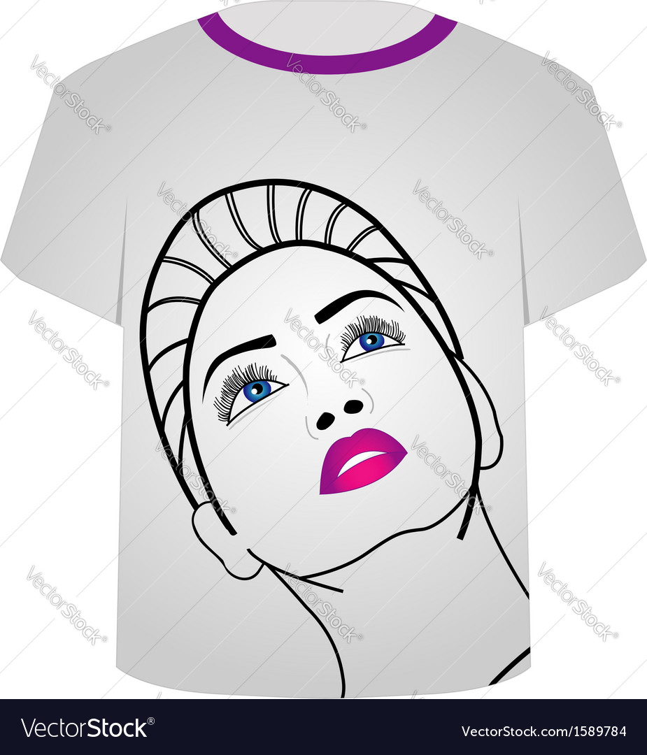 T shirt template- glamor model vector | Price: 1 Credit (USD $1)