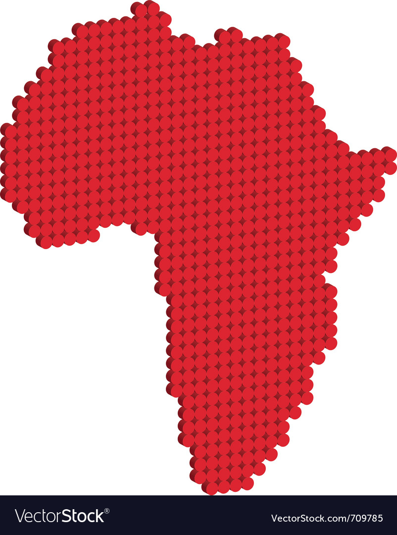 Africa map 3d vector | Price: 1 Credit (USD $1)