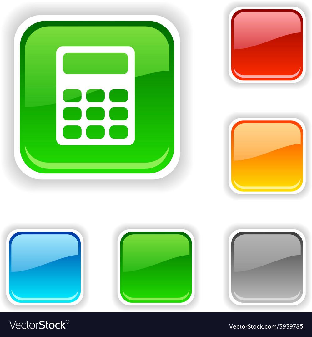 Calculate button vector | Price: 1 Credit (USD $1)