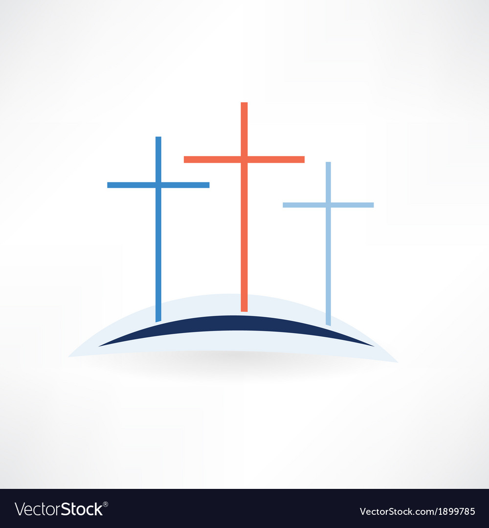 Church crosses icon vector | Price: 1 Credit (USD $1)