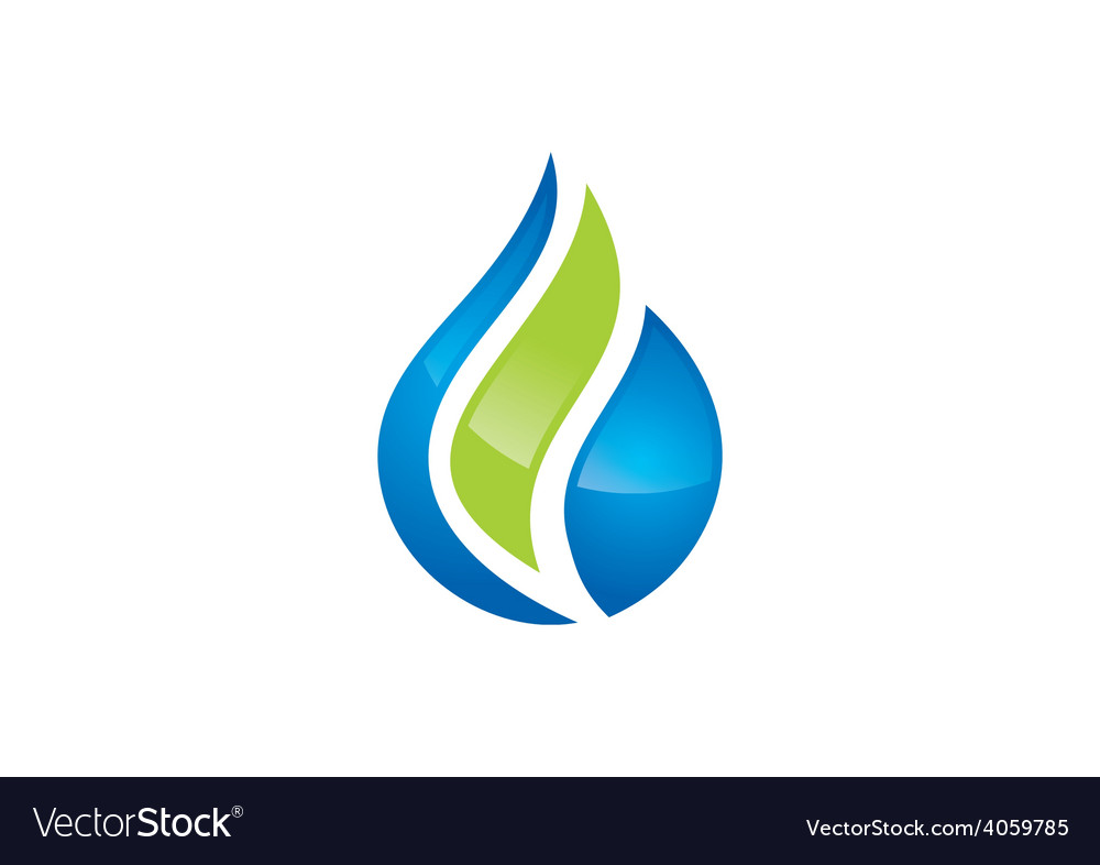 Eco water drop biology abstract logo vector | Price: 1 Credit (USD $1)