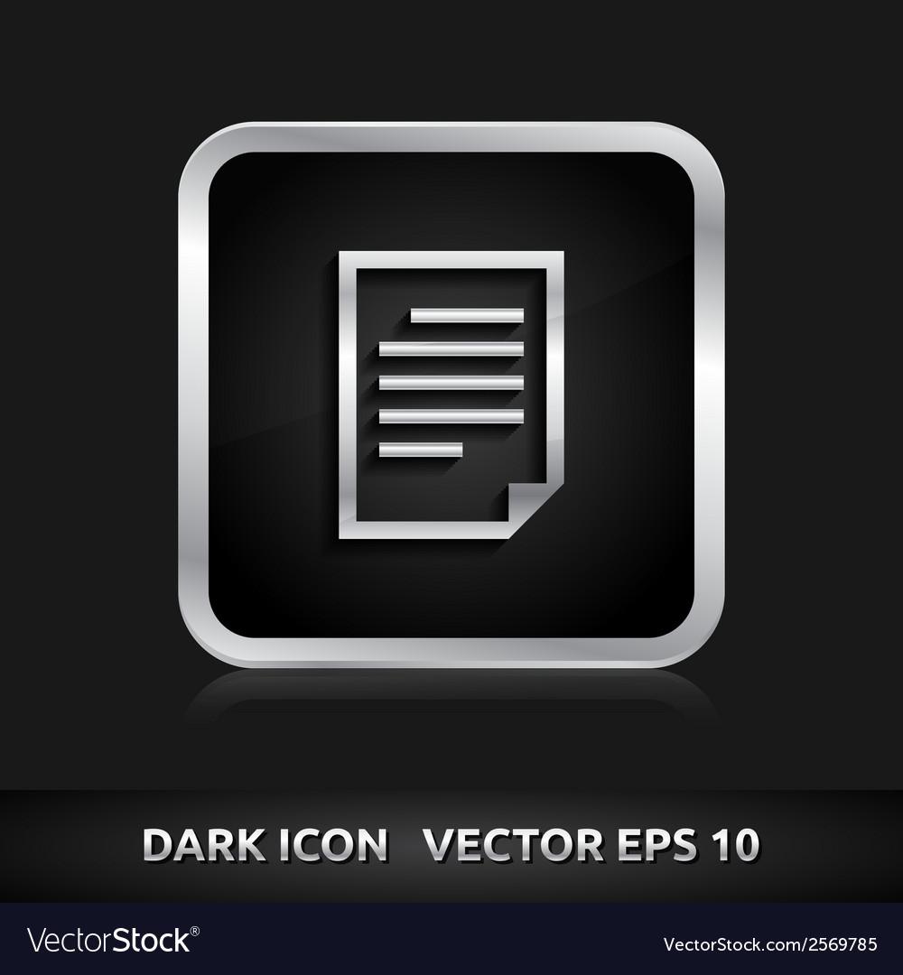 File icon silver metal vector | Price: 1 Credit (USD $1)