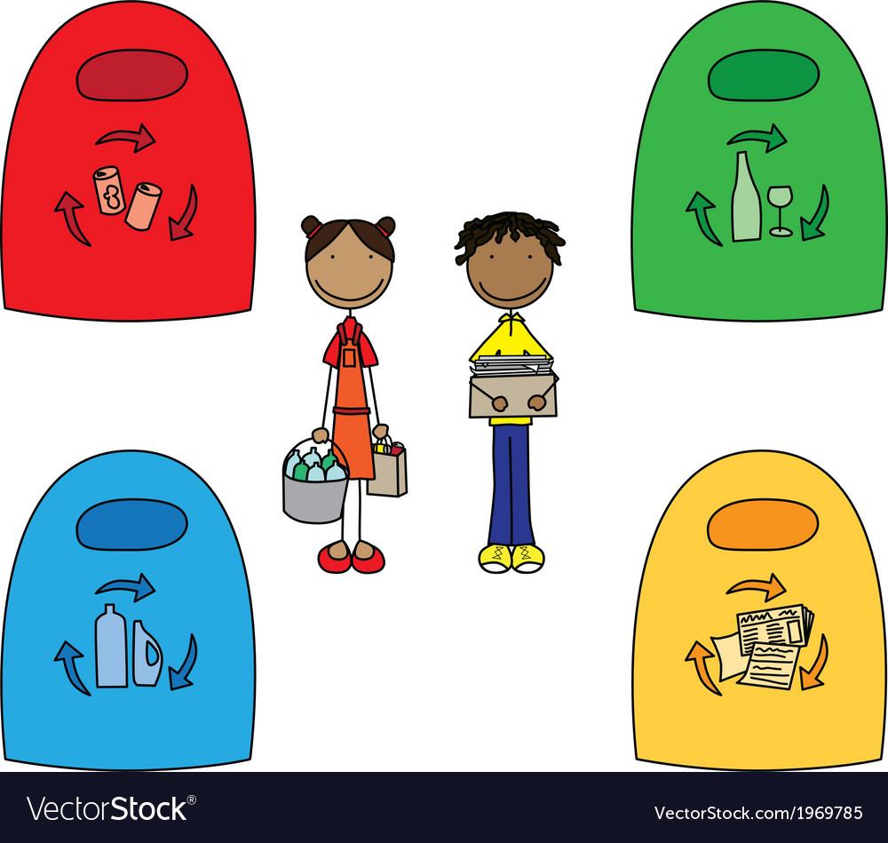 Happy kids vector | Price: 1 Credit (USD $1)