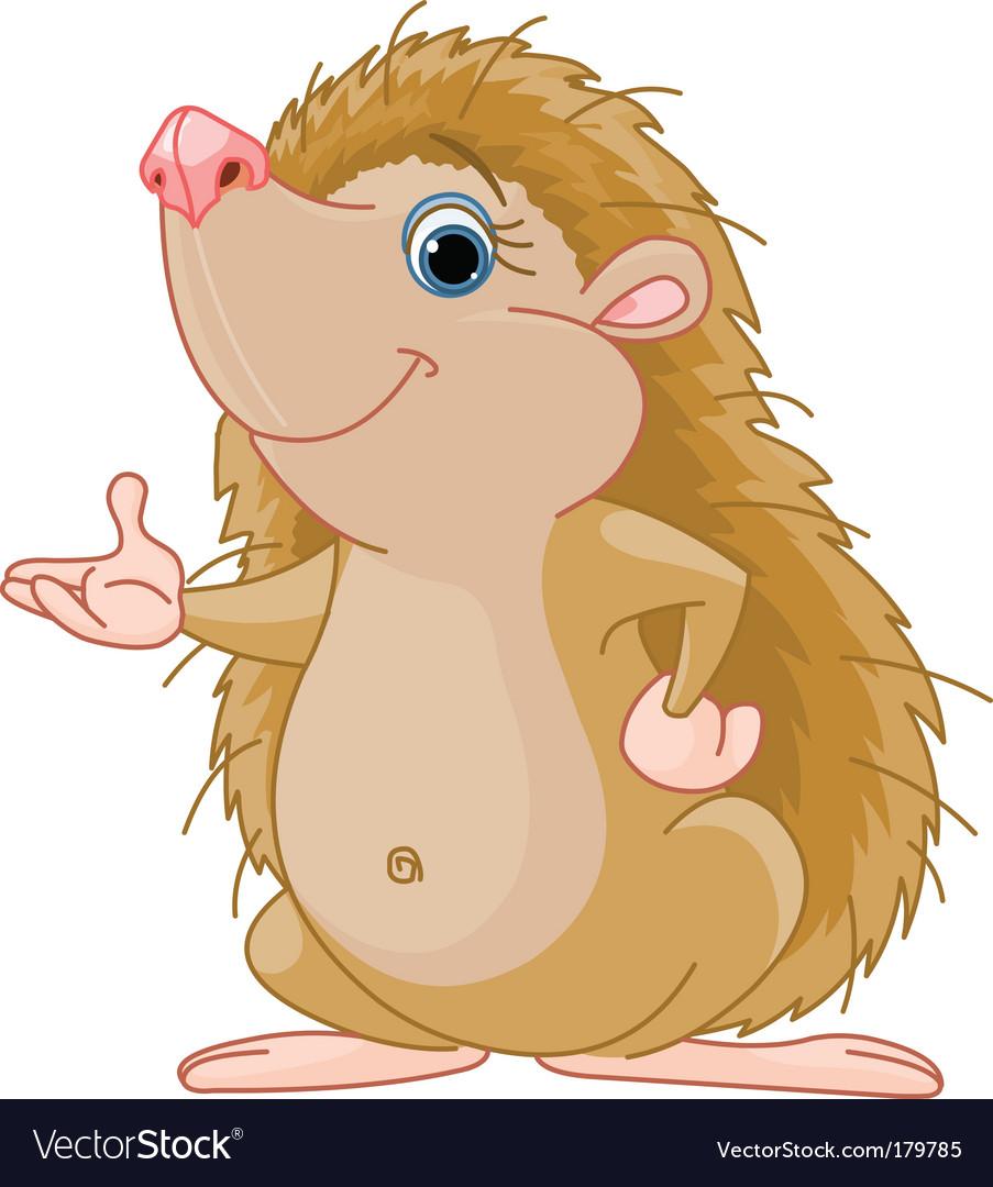 Hedgehog presenting vector   Price: 3 Credit (USD $3)