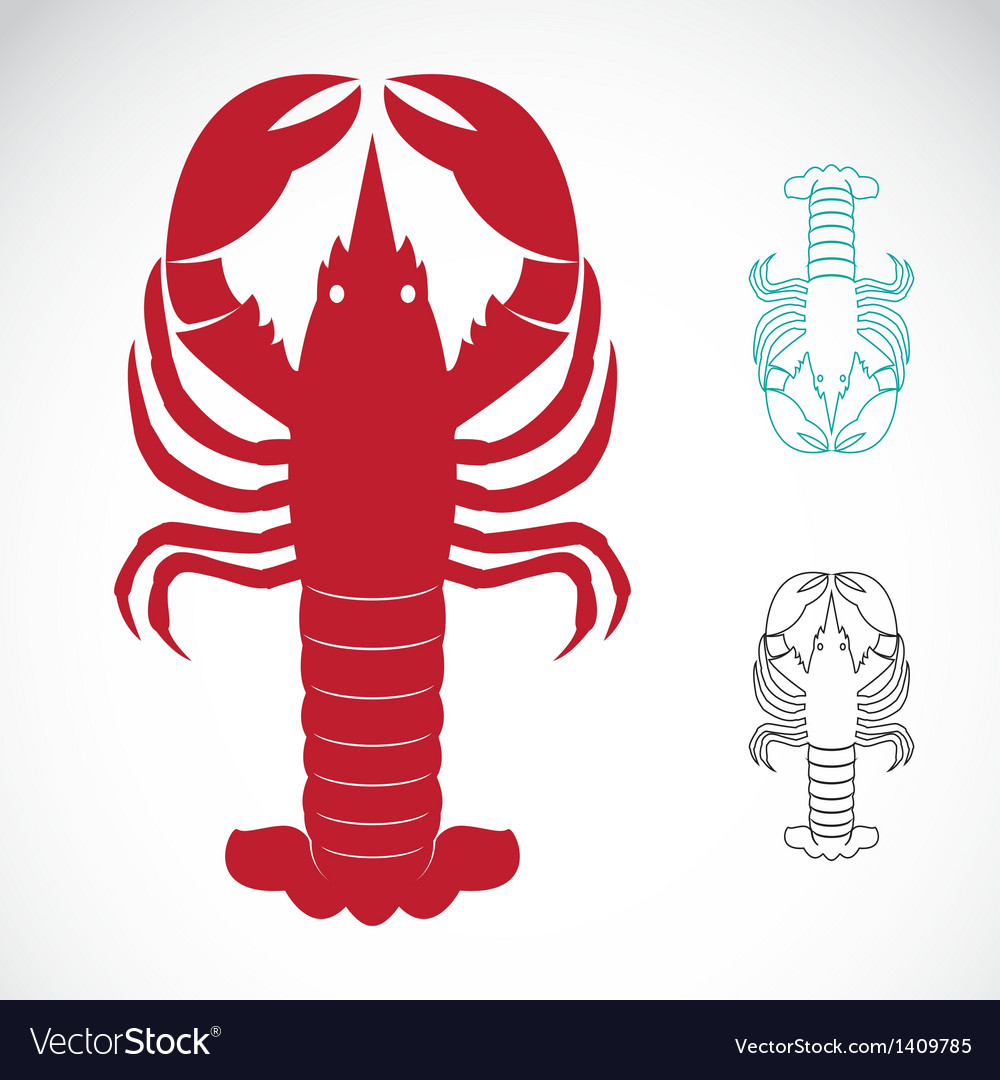Image of an lobster vector | Price: 3 Credit (USD $3)