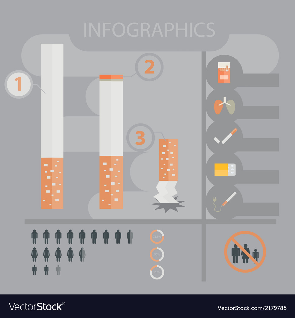 Infographic smokingandcigarette vector | Price: 1 Credit (USD $1)